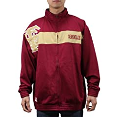 NCAA Florida State Seminoles Mens Track Jacket with Embroidered Logo by NCAA