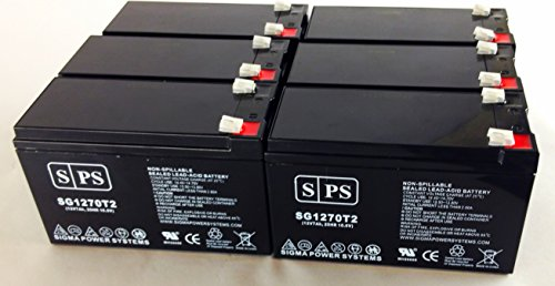 12V 7Ah (Sps Brand) Opti-Ups Ds1000B Ups Replacement Battery ( 6 Pack)