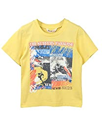 Beebay Surfers Paradise Print T-Shirt Yellow 8Y