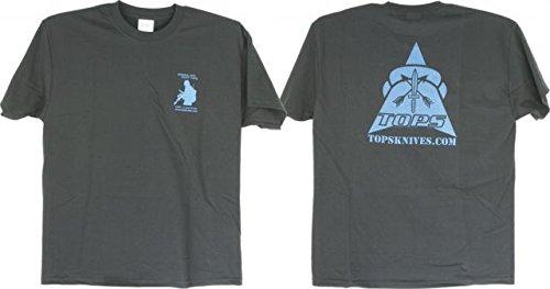Tops Knives T-Shirt Blue Black Xl, Xl Tptsbbxl