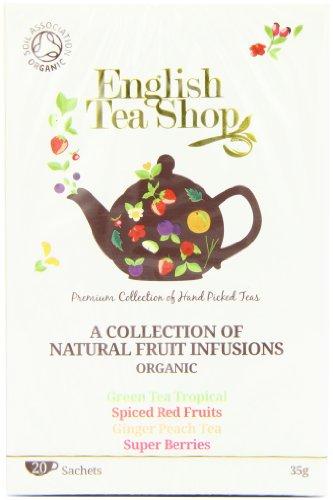 English Tea Shop Fruit Tea Assortment (4 Varieties)organic 20 Sachet Tea Bags  (Pack of 3)