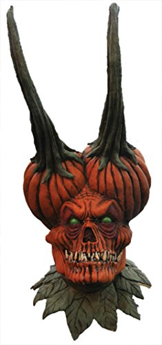 Demon Seed Pumpkin Skull Horror Cosplay Latex Adult Halloween Costume Mask