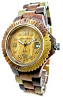 Tense Inlaid Sandalwood Natural Wood Watch Ladies L4100I Roman RNLF from Tense