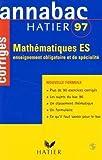 echange, troc Merckhoffer-R+Breher - Annabac 97 mathematiques es corriges