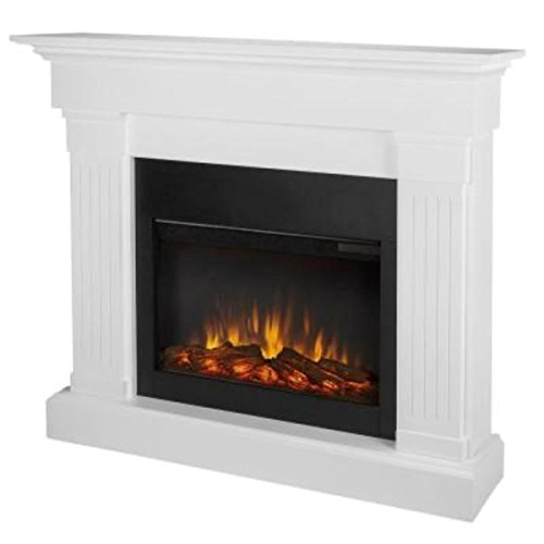 Review Of Slim Crawford Electric Fireplace Finish: White