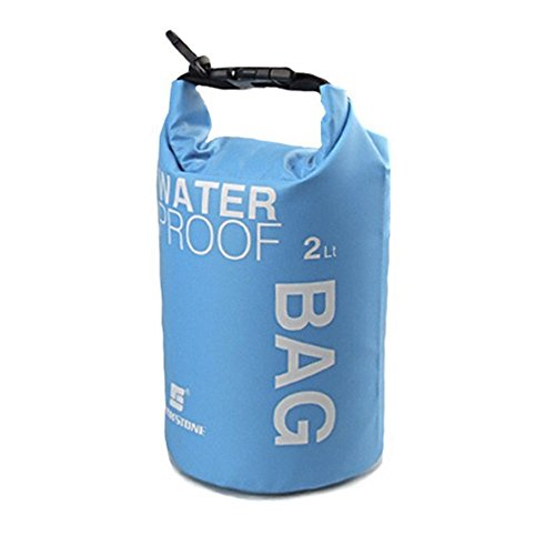 WINGONEER-Waterproof-Bag-Waterproof-Case-for-Swimming-Surfing-Fishing-Boating-Skiing-Camping-and-Other-Outdoor-Sports-Protest-Your-Personal-Item-Against-Water-Rain-Snow-and-Sweat-2L-Blue