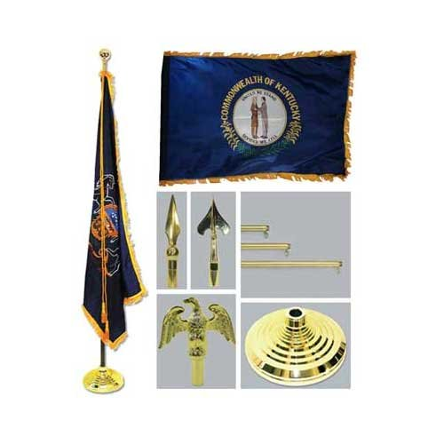 Kentucky 4Ft X 6Ft Flag Telescoping Flagpole Base And Tassel