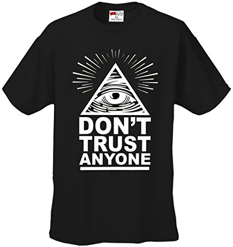 Don't Trust Anyone Men's T-Shirt #B214-PS, Mens Medium, Black