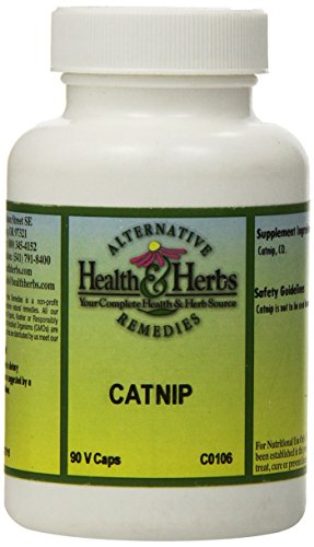 Alternative Health & Herbs Remedies Catnip Capsules, 90-Count Bottle