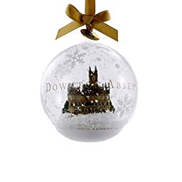 Kurt Adler Downton Abbey Castle Glass Ball Ornament, 4.5-Inch
