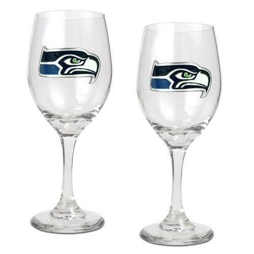 NFL Seattle Seahawks 14-Ounce Wine Glass (Set of Two) at Amazon.com