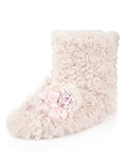 Faux Fur Mouse Boot Slippers