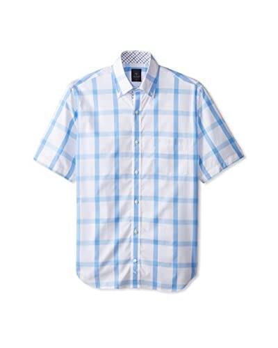 TailorByrd Men's Large Check Short Sleeve Shirt