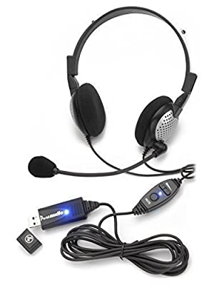 Voice Recognition USB Headset with Noise Cancelling Microphone for Nuance Dragon Speech Recognition Software