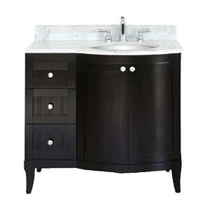 empire industries m100 36rd dark mahogany malibu 100 malibu 100 36 vanity with drawers on right. Black Bedroom Furniture Sets. Home Design Ideas