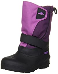 Tundra Quebec Boot (Toddler/Little Kid/Big Kid),Black/Purple,3 M US Little Kid