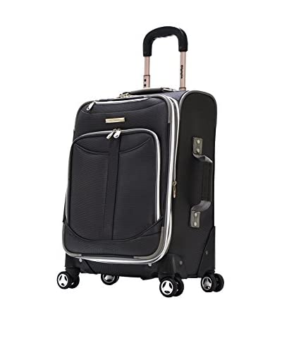 Olympia Luggage  Tuscany 21 Inch Expandable Spinner Airline Carry-On Upright,Black