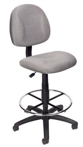 Gray Euro Style Nylon Base Office Drafting Stool