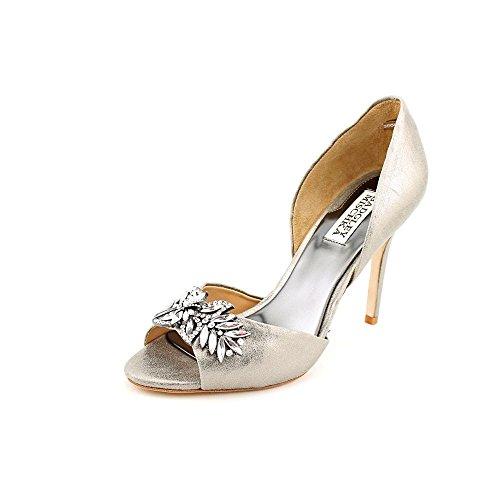 badgley-mischka-nikki-ii-women-us-6-silver-peep-toe-heels