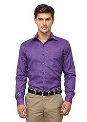 Copperline Purple Striped Slimfit Fullsleeves Cotton Shirts.