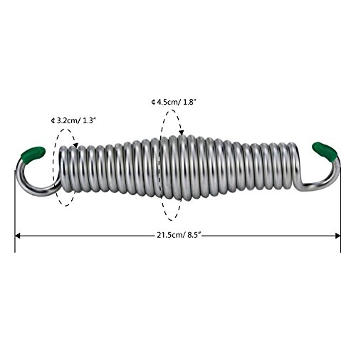 Mudder hammock chair spring 330 lb weight capacity for for Hanging chair spring