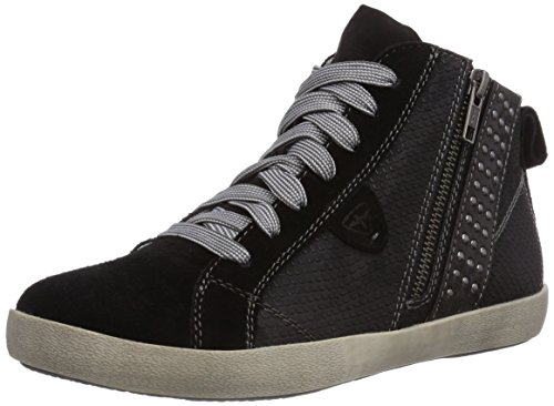 Tamaris 25204, Low-Top Sneaker donna, Nero (Schwarz (Black Struct. 006)), 35