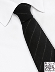 Best of British Pure Wool Chalk Striped Tie