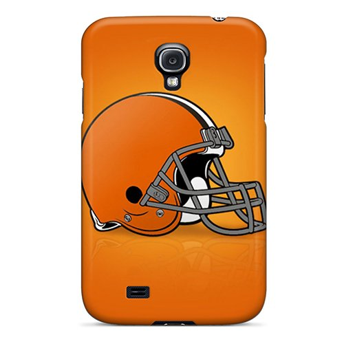 Galaxy S4 Hard Back With Bumper Silicone Gel Tpu Case Cover Cleveland Browns