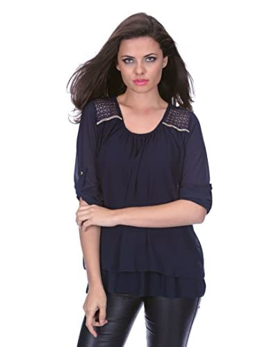 Virginia Key Bluse Kelly blau