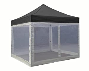 Eurmax Basic 10 X 10 Pop up Canopy Party Tent Instant Gazebo with Screen Mesh Walls... by Eurmax