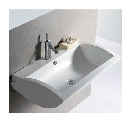 Whitehaus Collection WHKN1128 Isabella Collection Basin, White