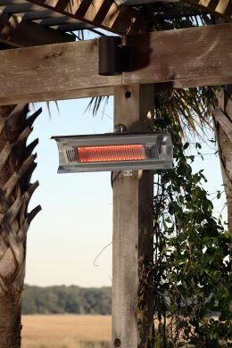 New – 1500 Watt Stainless Steel Wall Mounted Infrared Patio Heater by Mojave Sun