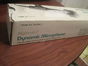 """Realistic Highball - 2 Dynamic Microphone ... All Purpose """"Omni"""" With Pop Proof Screen ... Low Impedance ... 50-13,000 Hz Response ... NEW OLD STOCK"""