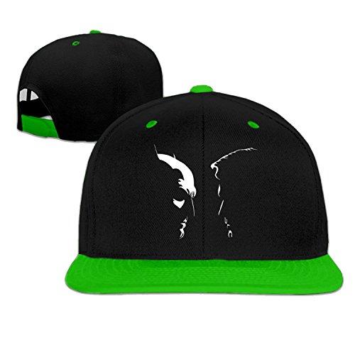 baseball cap hip hop hat Bat V Super cartoon charachter cap Green (5 colors) (Cartoon Charachters)
