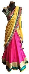 Sweety Plus Women's Geogette Lehenga Choli (Pack Of 2) (Mira_0012_Multicolor_Free Size)