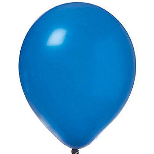 "Amscan Enchanting Solid Latex Balloons Party Supplies for Any Occasion, 12"", Bright Royal Blue"