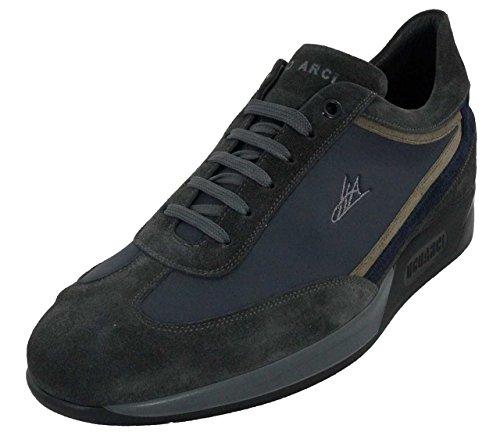 Ugo Arci - Sneakers - Ugo Arci Uomo - 810B/08/30NP - 42, Blu-Piombo-Antilope