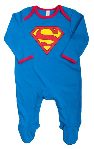 Super Baby Boys Sleepsuit (Blue, 3 - 6 Months)