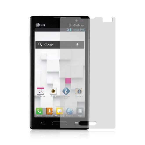 Lg Optimus L9 P769 (T-Mobile, Metro Pcs) - Premium Transparent Clear Screen Protector + Atom Led Keychain Light
