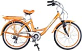 GREENLINE 24″ Electric Beach Cruiser Electric Bicycle Bike – Ladies Orange