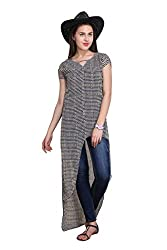 new sierra womens check geomatrical printed short sleeves front open long dress