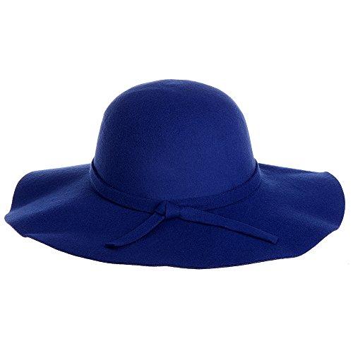 Vbiger Fashion New Women Vintage Wool Round Fedora Cloche Cap Wool Felt Bowler Hat (Blue) (Bowler Hat Blue compare prices)