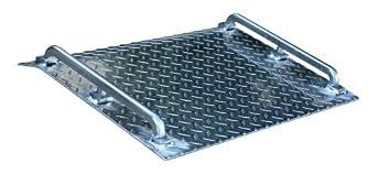 "Vestil AMD-2418 Mini Dock Plate, Aluminum, 500-lb. Capacity, 18"" Length x 24"" Width x 1/8"" Thick"