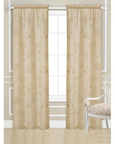 Laura Ashley Set of 2 Devon Window Curtains  [Linen]
