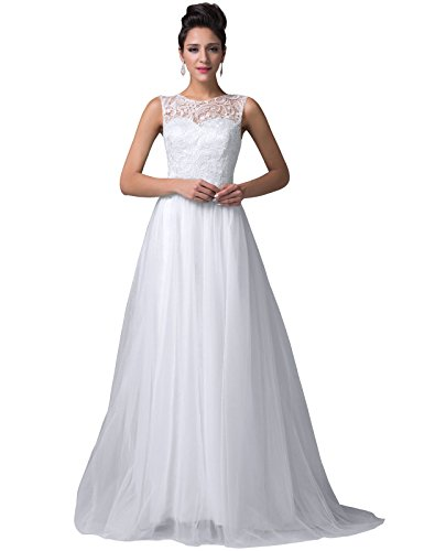 Women's Floor Length Lace Tulle Prom Ball Gowns CL6108-3 (2)