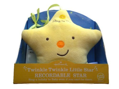 Hallmark Twinkle Twinkle Little Star Recordable Star Plush