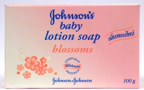 Johnson's Baby Lotion Bar Soap, Blossoms, 100 G / 3.5 Oz (Pack of 8)
