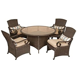 Lake Como Patio Dining Set (5 Piece, Wicker) by La-Z-Boy Outdoor