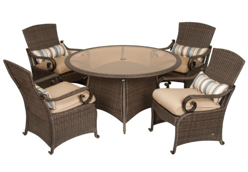 Lake Como Patio Dining Set (5 Piece, Wicker, Tan) by La-Z-Boy Outdoor picture