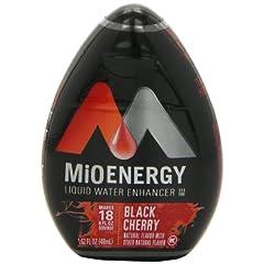 MIO ブラックチェリー無糖濃集液体ドリンクミックス 48ml x 3 並行輸入品